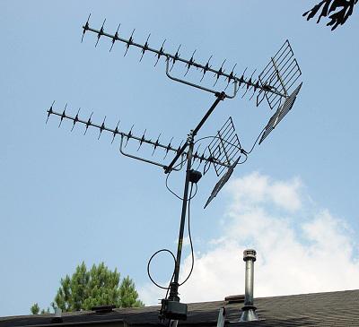Two antennas